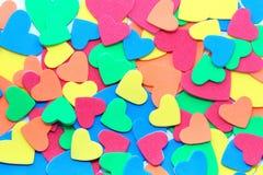 Corazones del color Imagen de archivo libre de regalías