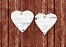 Corazones del día de tarjeta del día de San Valentín Fotos de archivo