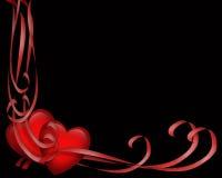 Corazones del día de tarjeta del día de San Valentín Foto de archivo libre de regalías