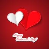Corazones del día de tarjeta del día de San Valentín Fotografía de archivo libre de regalías