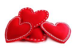 Corazones del día de tarjeta del día de San Valentín Imagenes de archivo