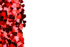 Corazones del día de tarjeta del día de San Valentín Imagen de archivo