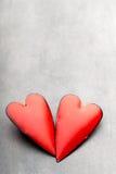Corazones del día de tarjeta del día de San Valentín Tarjeta greating del día de San Valentín Foto de archivo libre de regalías