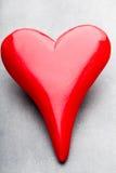 Corazones del día de tarjeta del día de San Valentín Tarjeta greating del día de San Valentín Fotos de archivo libres de regalías