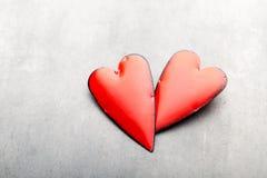 Corazones del día de tarjeta del día de San Valentín Tarjeta greating del día de San Valentín Fotografía de archivo libre de regalías