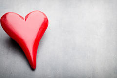 Corazones del día de tarjeta del día de San Valentín Tarjeta greating del día de San Valentín Imagen de archivo