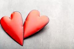 Corazones del día de tarjeta del día de San Valentín Tarjeta greating del día de San Valentín Foto de archivo