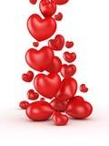 Corazones del día de tarjetas del día de San Valentín Foto de archivo