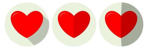 Corazones del día del `s de la tarjeta del día de San Valentín Fotografía de archivo