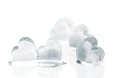 Corazones del hielo Imagen de archivo libre de regalías