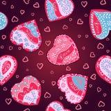 Corazones del modelo del vector para el día de tarjeta del día de San Valentín del St Imagen de archivo libre de regalías