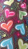 Corazones del multicolor del día de tarjetas del día de San Valentín Imagen de archivo libre de regalías