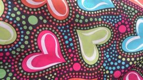 Corazones del multicolor del día de tarjetas del día de San Valentín Foto de archivo libre de regalías