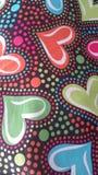Corazones del multicolor del día de tarjetas del día de San Valentín Imagenes de archivo