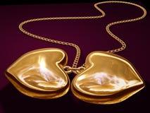 Corazones del oro Foto de archivo libre de regalías
