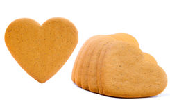 Corazones del pan de jengibre Fotografía de archivo libre de regalías
