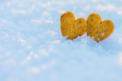 Corazones del pan de jengibre Imagen de archivo libre de regalías