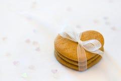 Corazones del pan de jengibre Fotografía de archivo
