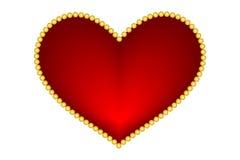 Corazones del rojo de la tarjeta del día de San Valentín Imagen de archivo libre de regalías