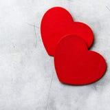 Corazones del rojo del amor del fondo del espacio de la copia del día de tarjetas del día de San Valentín Foto de archivo