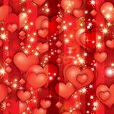 Corazones del rubin de la tarjeta del día de San Valentín Fotos de archivo libres de regalías