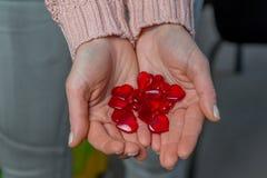 Corazones del `s de la tarjeta del día de San Valentín Foto de archivo