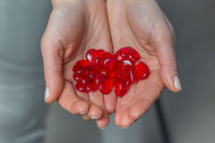 Corazones del `s de la tarjeta del día de San Valentín Fotos de archivo