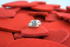 Corazones del triunfo de los diamantes Foto de archivo