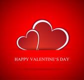 Corazones del vector para el día de tarjetas del día de San Valentín Fotos de archivo