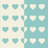 Corazones del vector Tarjeta del día de San Valentín del fondo Imagen de archivo