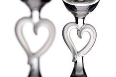 Corazones del vidrio Imagen de archivo