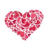 Corazones dentro del vector del corazón Imagen de archivo libre de regalías