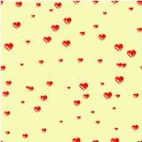 Corazones dibujados con un cepillo Impresión con los corazones, Imagen de archivo