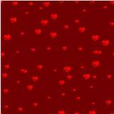 Corazones dibujados con un cepillo Impresión con los corazones, Fotografía de archivo