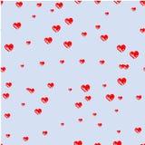 Corazones dibujados con un cepillo Impresión con los corazones, Imagen de archivo libre de regalías