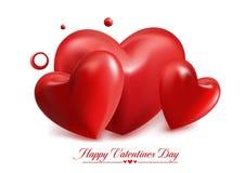 Corazones dulces rojos del globo del día de tarjetas del día de San Valentín libre illustration