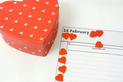 Corazones el día de tarjetas del día de San Valentín Foto de archivo