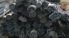 Corazones en barras - producción lista de la fibra de vidrio en planta metrajes
