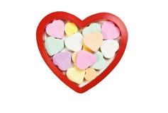 Corazones en colores pastel del caramelo Fotos de archivo libres de regalías