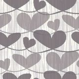 Corazones en colores pastel marrones neutrales exhaustos de la mano con textura rayada de la acuarela Modelo incons?til del vecto libre illustration
