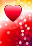Corazones en el fondo del amor del día de tarjeta del día de San Valentín stock de ilustración