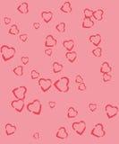 Corazones en fondos rosados fotos de archivo libres de regalías