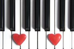 Corazones en un teclado foto de archivo libre de regalías