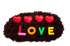 Corazones encantadores de la tarjeta del día de San Valentín Imágenes de archivo libres de regalías