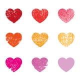 Corazones estridentes de la tarjeta del día de San Valentín Foto de archivo libre de regalías
