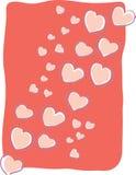 Corazones flotantes del amor Imágenes de archivo libres de regalías