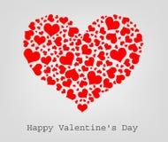 Corazones inconsútiles de la tarjeta del día de San Valentín stock de ilustración