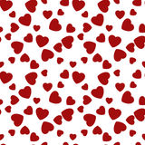 Corazones inconsútiles del modelo Día de tarjetas del día de San Valentín feliz Vector Foto de archivo