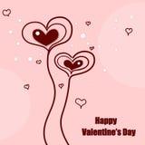 Corazones lindos del día de tarjetas del día de San Valentín Imagenes de archivo