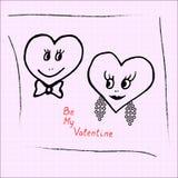 Corazones a mano para el día de tarjetas del día de San Valentín Vector ilustración del vector